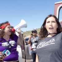 Jacinta Protesting